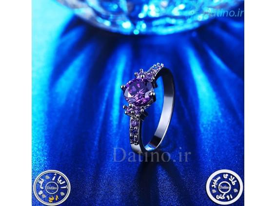 عکس انگشتر زنانه آمتیست باجو-Royal.R.17 - انواع مدل انگشتر زنانه آمتیست باجو-Royal.R.17