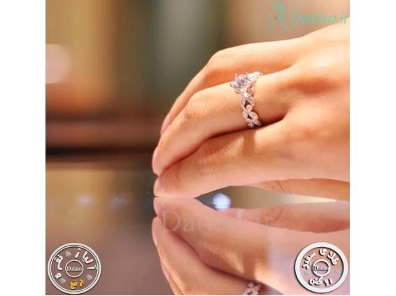 عکس انگشتر زنانه گلد کویین الماس-Royal.R.18 - انواع مدل انگشتر زنانه گلد کویین الماس-Royal.R.18