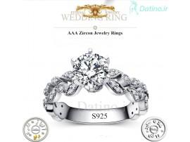 انگشتر زنانه گلد کویین الماس-Royal.R.18