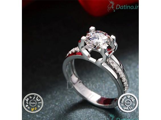 عکس انگشتر زنانه الماس هوریال-Royal.R.24 - انواع مدل انگشتر زنانه الماس هوریال-Royal.R.24
