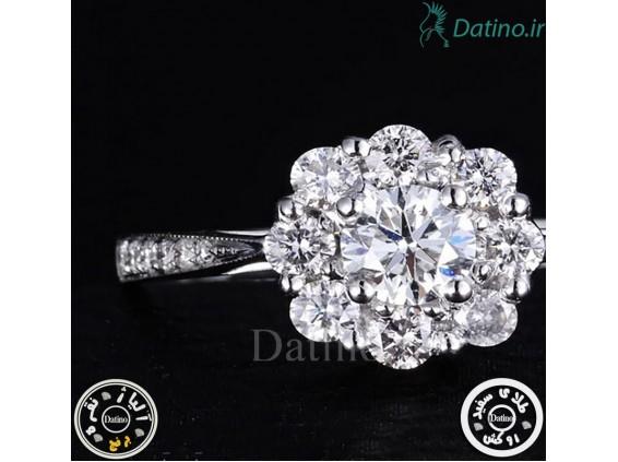عکس انگشتر زنانه آندره فلاور الماس-Royal.R.25 - انواع مدل انگشتر زنانه آندره فلاور الماس-Royal.R.25