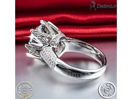 انگشتر زنانه پرنسس لوکس کریستال الماس-Royal.R.60