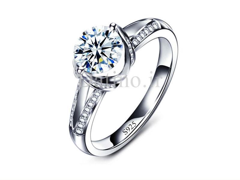 عکس انگشتر زنانه لوکس الماس جینا-Royal.R.78 - انواع مدل انگشتر زنانه لوکس الماس جینا-Royal.R.78