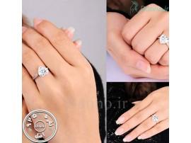 انگشتر زنانه گلسی هارت الماس-Royal.R.86