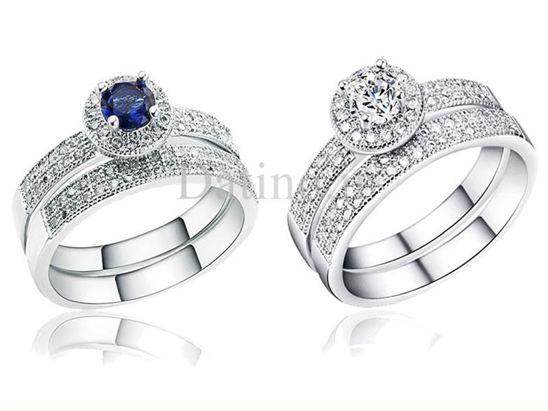عکس انگشتر زنانه حلقه پشت حلقه سالین زیرکن-Royal.R.9 - انواع مدل انگشتر زنانه حلقه پشت حلقه سالین زیرکن-Royal.R.9