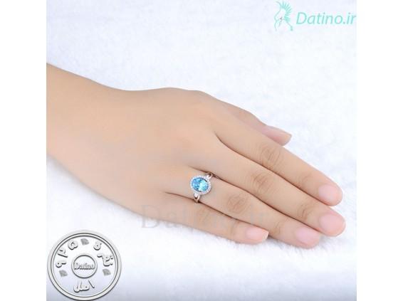 عکس انگشتر زنانه یاقوت کبود دلیسا-Royal.R.93 - انواع مدل انگشتر زنانه یاقوت کبود دلیسا-Royal.R.93