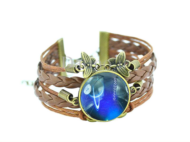 عکس دستبند چرم زنانه کهکشان طرح سیاره زحل-Toxic.B.1.7 - انواع مدل دستبند چرم زنانه کهکشان طرح سیاره زحل-Toxic.B.1.7