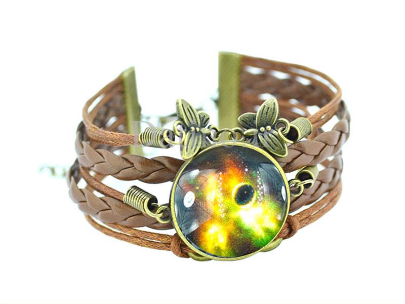 عکس دستبند چرم زنانه کهکشان طرح منظومه آتشین-Toxic.B.1.8 - انواع مدل دستبند چرم زنانه کهکشان طرح منظومه آتشین-Toxic.B.1.8