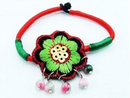 دستبند بافتنی زنانه طرح گل سیب-Toxic.B.17