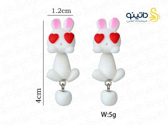 عکس گوشواره زنانه خرگوش عاشق toxic-e-28 - انواع مدل گوشواره زنانه خرگوش عاشق toxic-e-28
