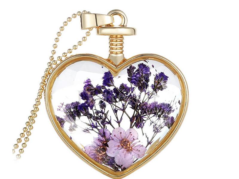 عکس گردنبند زنانه قلب شیشه ای طرح گل بنفش-Toxic.N.1.1 - انواع مدل گردنبند زنانه قلب شیشه ای طرح گل بنفش-Toxic.N.1.1