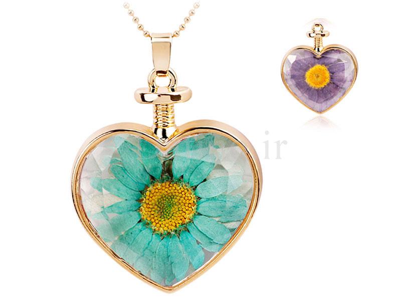 عکس گردنبند زنانه قلب شیشه ای طرح گل بهار-Toxic.N.1.9 - انواع مدل گردنبند زنانه قلب شیشه ای طرح گل بهار-Toxic.N.1.9