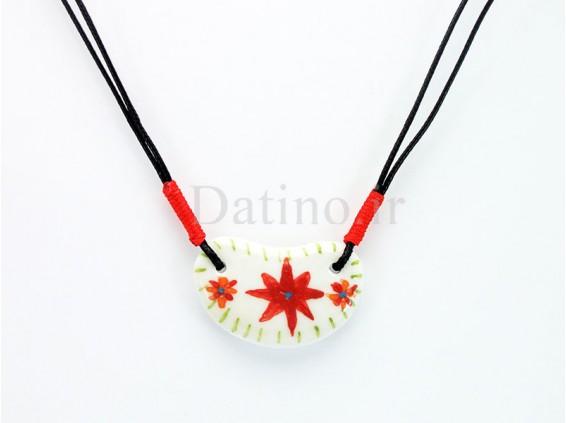 عکس گردنبند زنانه سرامیکی طرح گل قرمز-Toxic.N.11.1 - انواع مدل گردنبند زنانه سرامیکی طرح گل قرمز-Toxic.N.11.1