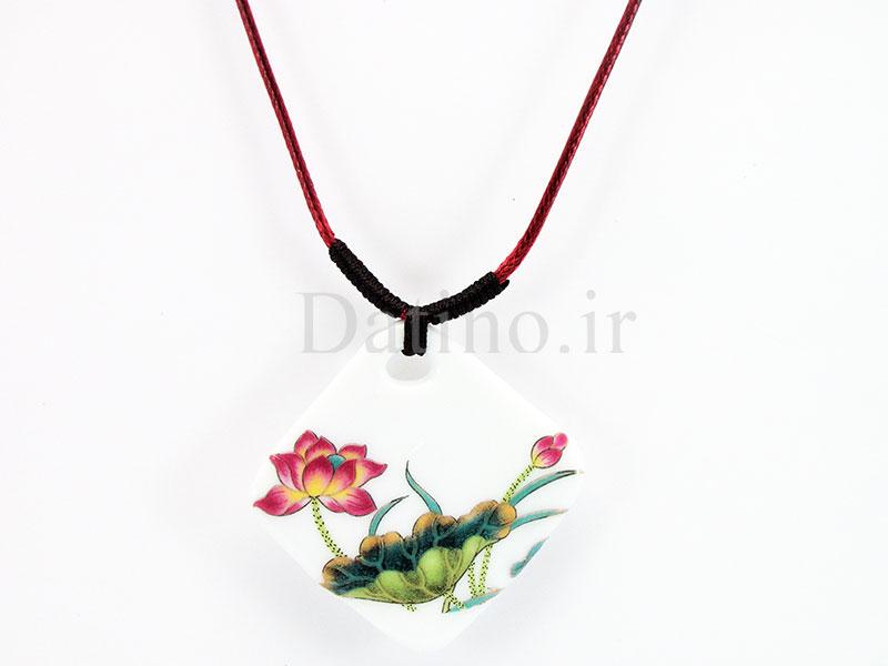عکس گردنبند زنانه سرامیکی لاریک طرح گل سیمپل-Toxic.N.15.5 - انواع مدل گردنبند زنانه سرامیکی لاریک طرح گل سیمپل-Toxic.N.15.5