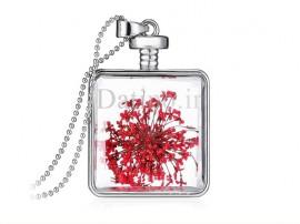 گردنبند زنانه مربع شیشه ای طرح گل استار-Toxic.N.18.1