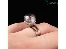 انگشتر زنانه شیشه ای قاصدک-Toxic.R.13