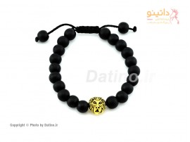 دستبند مردانه شیر طلایی-zarrin-b-14