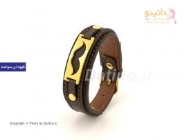 دستبند چرم سبیل-zarrin-b-25