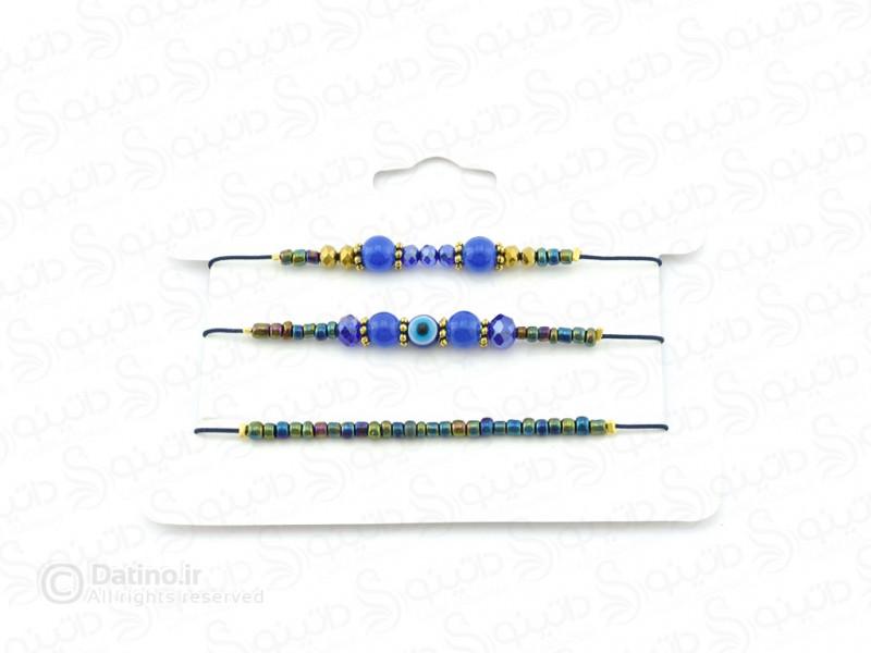 عکس دستبند زنانه ابریشمی چشم نظر-zarrin-b-38 - انواع مدل دستبند زنانه ابریشمی چشم نظر-zarrin-b-38