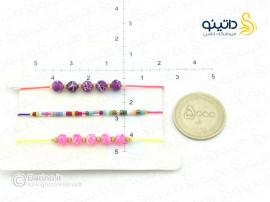 دستبند زنانه ابریشمی صورتی بنفش-zarrin-b-41