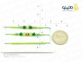 دستبند زنانه ابریشمی سبز-zarrin-b-42