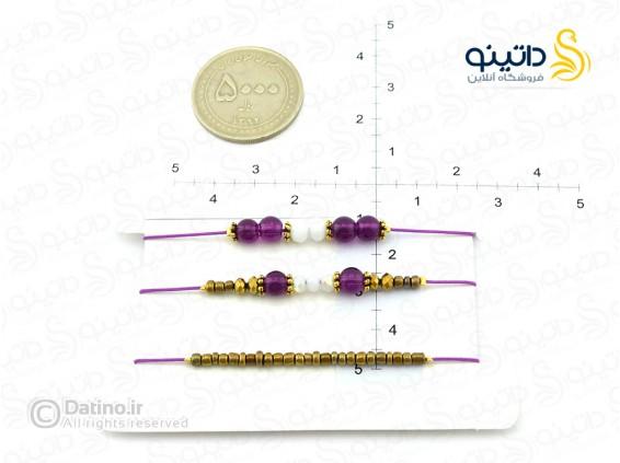 عکس دستبند زنانه ابریشمی بنفش-zarrin-b-47 - انواع مدل دستبند زنانه ابریشمی بنفش-zarrin-b-47