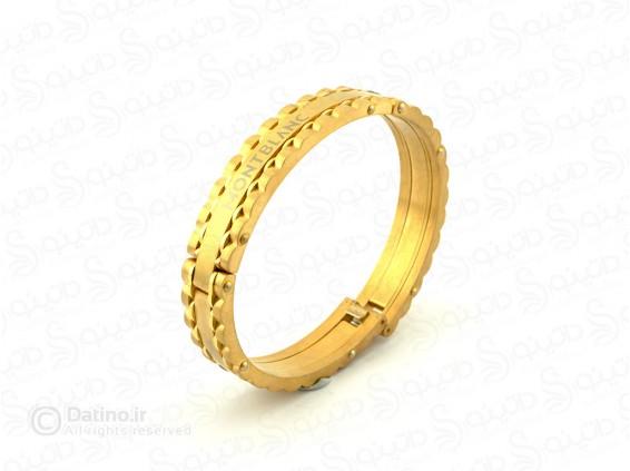 عکس دستبند استیل مونت بلانک-zarrin-b-49 - انواع مدل دستبند استیل مونت بلانک-zarrin-b-49