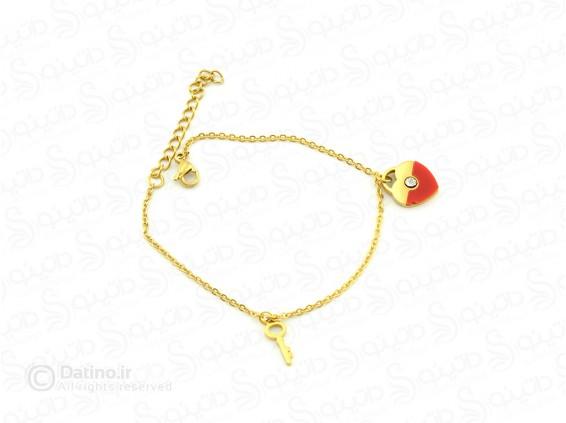 عکس دستبند زنانه قلب دوتیکه-Zarrin-n-50 - انواع مدل دستبند زنانه قلب دوتیکه-Zarrin-n-50