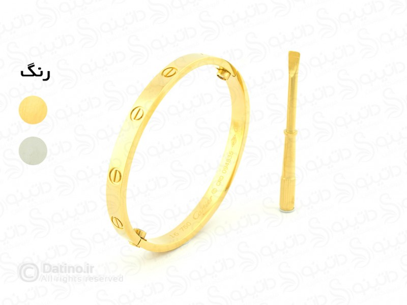 عکس دستبند زنانه کارتیر پیچی zarrin-b-73 - انواع مدل دستبند زنانه کارتیر پیچی zarrin-b-73