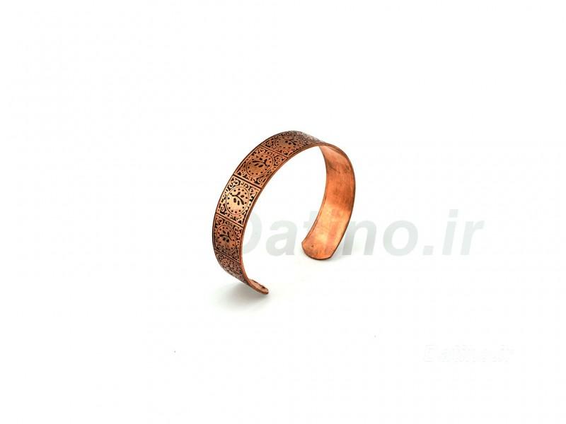 عکس دستبند زنانه مسی طرح کهن-Zarrin-B-9 - انواع مدل دستبند زنانه مسی طرح کهن-Zarrin-B-9