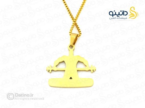 عکس گردنبند مردانه وزنه بردار zarrin-n-119 - انواع مدل گردنبند مردانه وزنه بردار zarrin-n-119