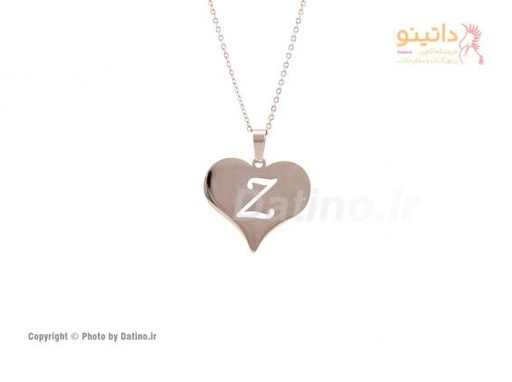 عکس گردنبند قلب حرف اسم انگلیسی-Zarrin.N.21 - انواع مدل گردنبند قلب حرف اسم انگلیسی-Zarrin.N.21