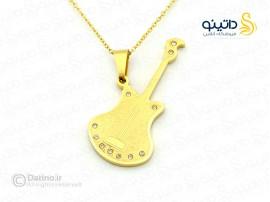 گردنبند استیل گیتار-zarrin-n-69