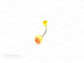 پیرسینگ ناف رنگی ساده zarrin-p-47