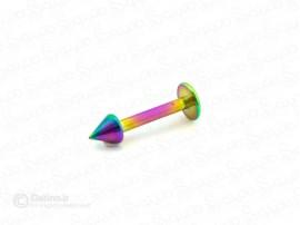 پیرسینگ لب پیکان رنگی ساده zarrin-p-62