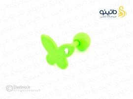 پیرسینگ رنگی گوش پروانه zarrin-p-83