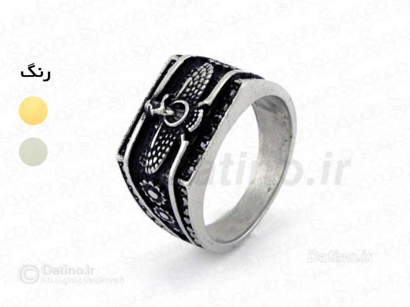 عکس انگشتر مردانه طرح فروهر-Zarrin.R.11 - انواع مدل انگشتر مردانه طرح فروهر-Zarrin.R.11