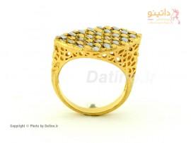 انگشتر زنانه طرح طلای کورونا-Zarrin.R.24