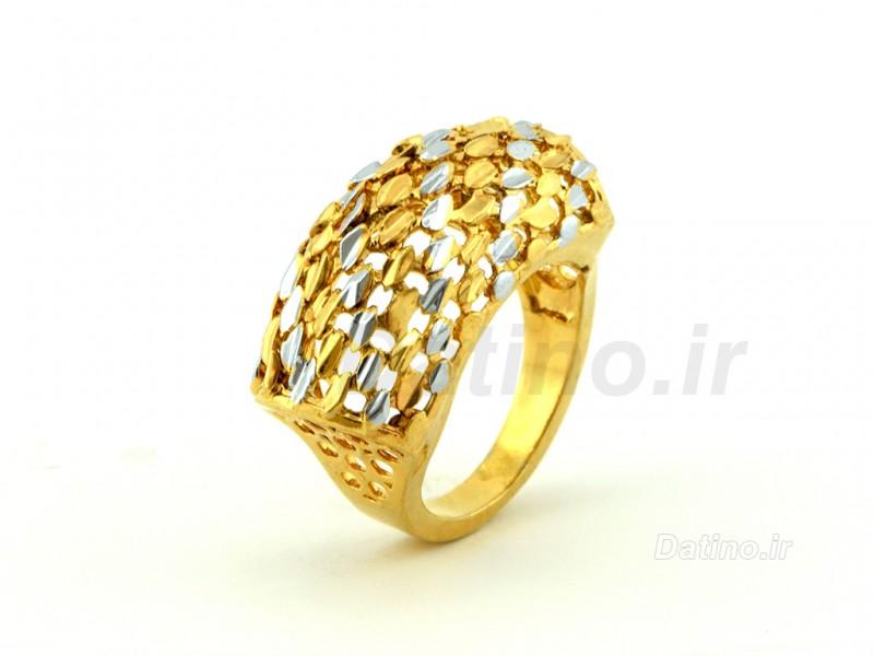 عکس انگشتر زنانه طرح طلای اسکارلت-Zarrin.R.25 - انواع مدل انگشتر زنانه طرح طلای اسکارلت-Zarrin.R.25