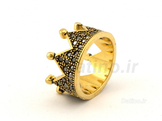 عکس انگشتر زنانه تاج طلایی-Zarrin.R.28 - انواع مدل انگشتر زنانه تاج طلایی-Zarrin.R.28