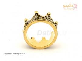انگشتر زنانه تاج طلایی-Zarrin.R.28