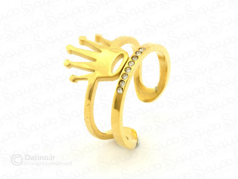 عکس انگشتر زنانه تاج رولکس-zarrin-r-39 - انواع مدل انگشتر زنانه تاج رولکس-zarrin-r-39