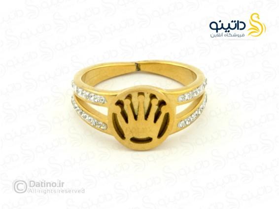 عکس انگشتر زنانه استیل تاج رولکس-zarrin-r-40 - انواع مدل انگشتر زنانه استیل تاج رولکس-zarrin-r-40